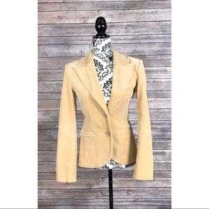 H&M Blazer corduroy one button Career size 4